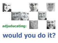 Adjudicating: would you do it?