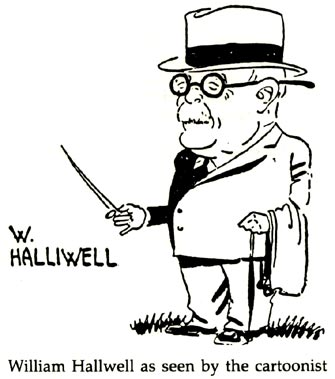 William Halliwell - cartoon drawing