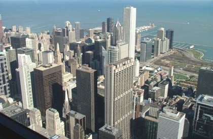 My kind of town: Chicago viewed from Sears Tower