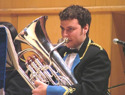 Euphonium player Brendon Wheeler