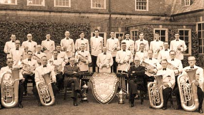 Ransome and Marles Works Band in 1951