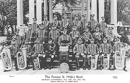St Hilda Professional Band with Hubert Bath as their MD