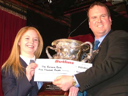 Tanya Furness collects the cup for Ransome