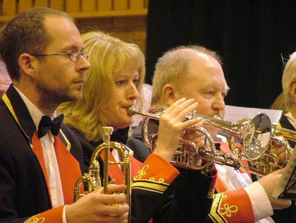 Dearham Band: Cornet section