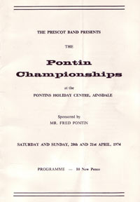 Pontins programme 1974