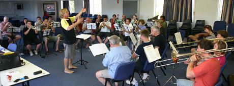 The 2009 Byron Brass Summer School band with David King