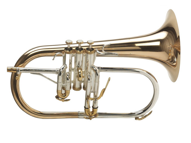 Raw Brass Flugel horn