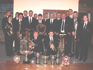 Hebden Bridge band with trophies
