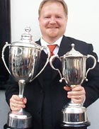 Rusell Gray with cups