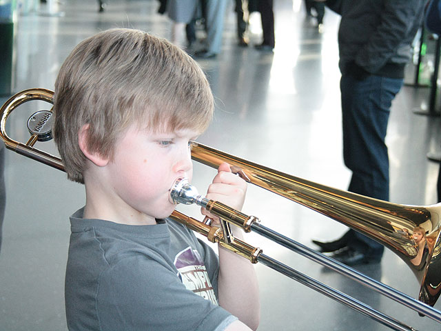 Young trombonist
