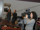 NRK (Norway) TV Crew filming the event