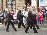 Uppermill in Procession In Uppermill Village