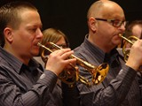 Division 1 winners Bjørsvik Brass in action