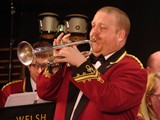 The talents of Tredegar principal cornet Dewi Griffiths displayed with the trumpet solo 'People'