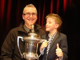 Captured; The older and younger Porthouse with the Welsh Open trophy