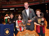 Philip Harper with his family - Winning MD at the British Open 2016