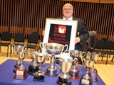 Austin Davies with trophies